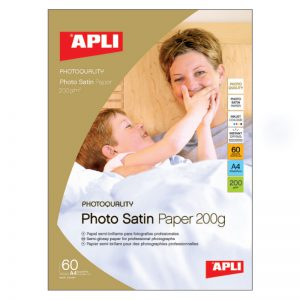Fotopaber Apli Satin A4 200g/m2