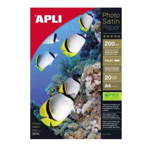 Fotopaber Apli Satin A4 240g/m2