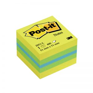 Märkmekuup Post-it Mini Cube 51x51mm/400 sidrunikollane - 3M