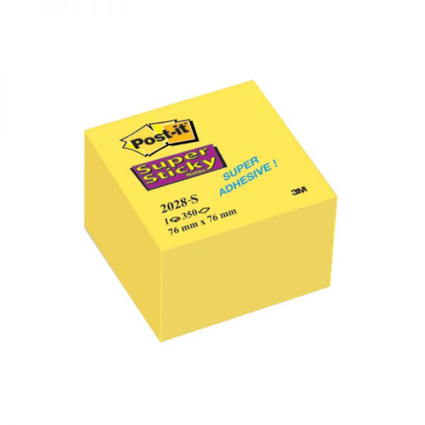 Märkmekuup Post-It Super Sticky 76x76 mm kollane 350 lehte - 3M