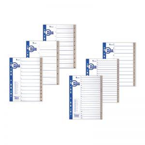 Vahelehed Forpus A4 plast 1-6 - Forpus