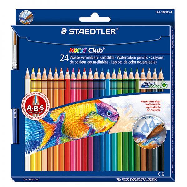 Akvarell-värvipliiatsid Staedler Noris Club  24 värvi - Staedtler