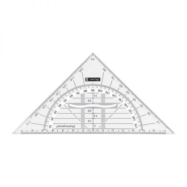 Joonlaud kolmnurk-mall BRUNNEN 16cm