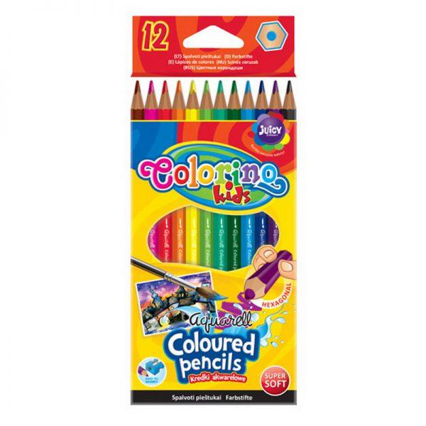 Akvarellvärvipliiatsid Colorino 12 värvi+ pintsel - Colorino
