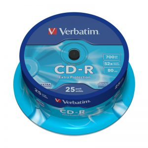 CD-R Verbatim 700MB 52x Extra Protection 25-ne torn/43432 - Verbatim