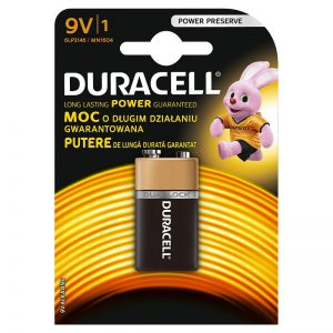 Patarei Duracell 9V