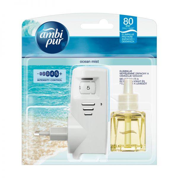 Elektrooniline õhuvärskendaja AMBI PUR MONO + täide Ocean Mist 20ml - Procter&Gamble