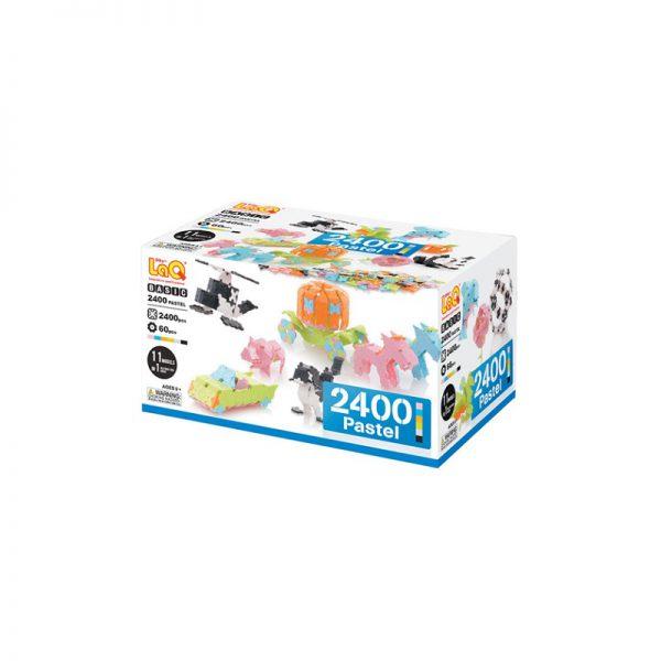 Arendav mänguasi Jaapani konstruktor LAQ Basic 2400 Pastel