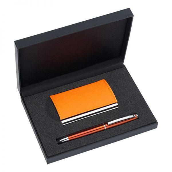 Kinkekomplekt pastapliiatsi ja visiitkaardihoidjaga CAPRI
