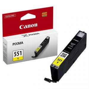 Tindikassetid - Canon CLI-551 Kollane tindikassett