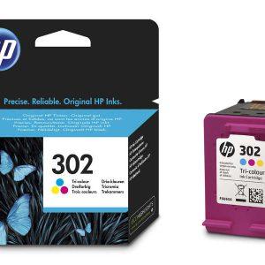 Tindikassetid - HP 302 (F6U65AE) värviline tindikassett