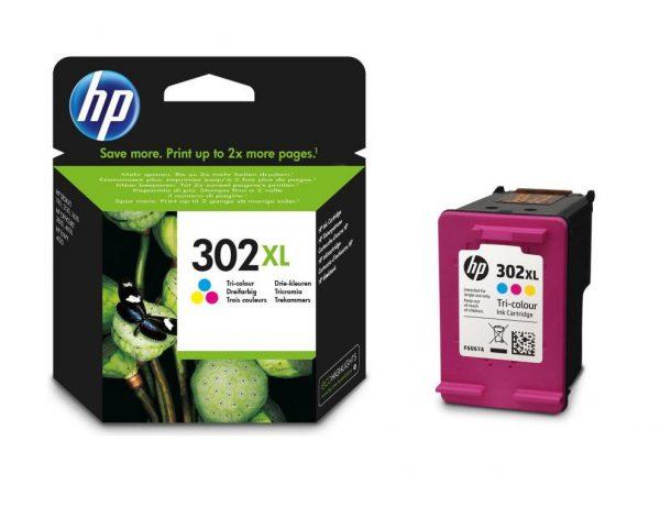 Tindikassetid - HP 302XL (F6U67AE) värviline tindikassett