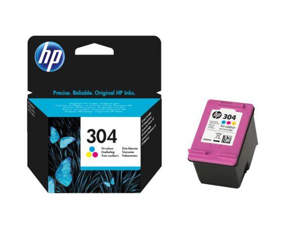 Tindikassetid - HP 304 (N9K05AE) värviline tindikassett